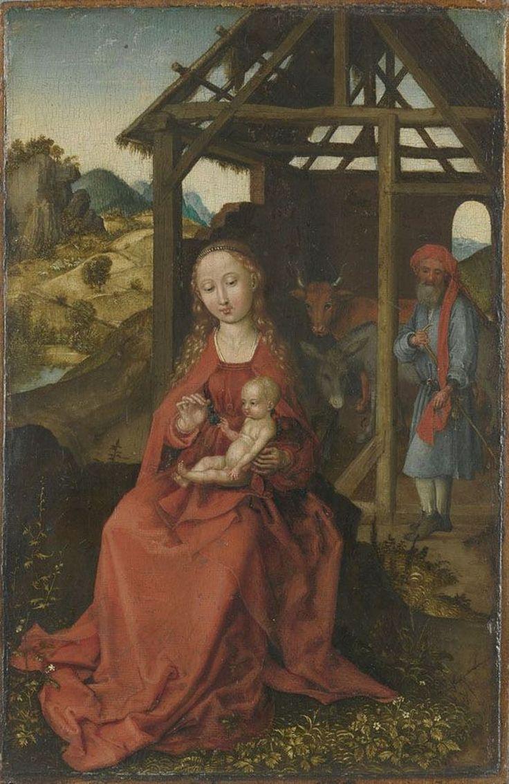 The Holy Family / La Sagrada Familia // 1475-1480 // Martin Schongauer // Alte Pinakothek