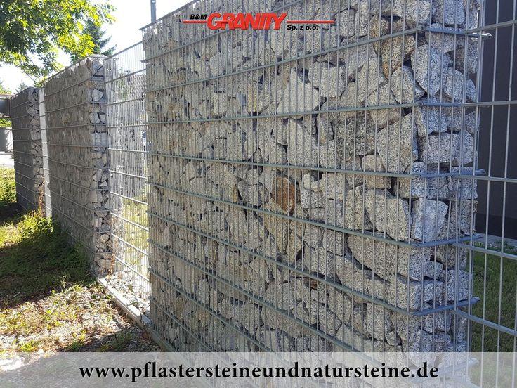 B&M GRANITY - Gabionen-Mauer...Eine Natursteinmauer kann so individuell sein…Die Mauer aus Naturstein kann traditionell, modern, rustikal, antik usw. sein. Es gibt so viele Varianten…Diesmal… eine Mauer aus Gabionen (Granit, Farbe-grau-gelb). http://www.pflastersteineundnatursteine.de/fotogalerie/gabionen/