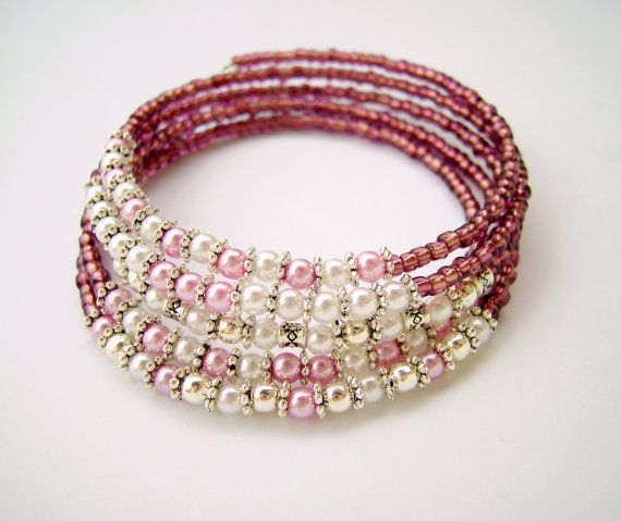 Elegant Romantic Sparkly Bridal Prom Feminine Memory Wire Bracelet, Formal Evening Shiny Jewelry, Lovely Fancy Bling Wedding Bracelet