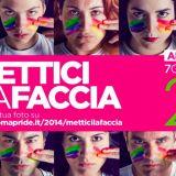 Pride Roma 2014 Ventennale del Pride Nazionale a Roma. Una sfilata contro i pregiudizi e per i diritti di uguaglianza. Piazza della Repubblica, Roma, Italia