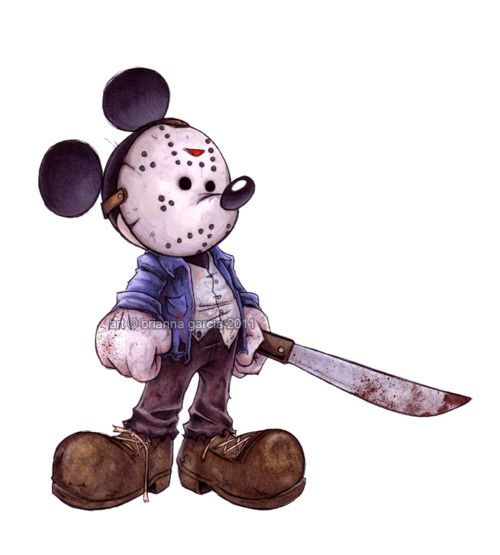 Mickey Mouse // Jason // Friday the 13th // Disney Mash-Up: