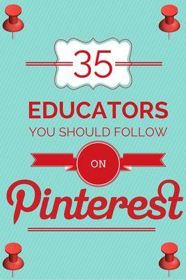 35 Educators You Should Follow on Pinterest | Shake Up Learning | www.shakeuplearning.com