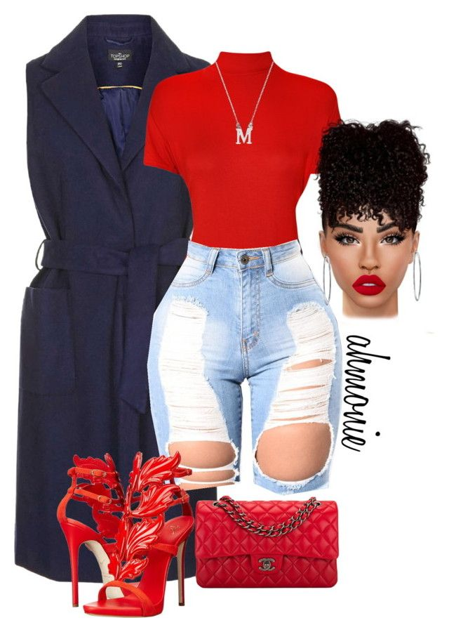 """""""Late for the 4th"""" by ahmonie on Polyvore featuring Topshop, WearAll, Giuseppe Zanotti, Lime Crime, Chanel, Bling Jewelry and plus size clothing"""