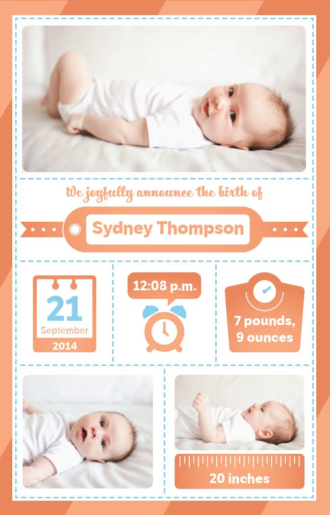 baby birth info graphics baby announcements shower invitations