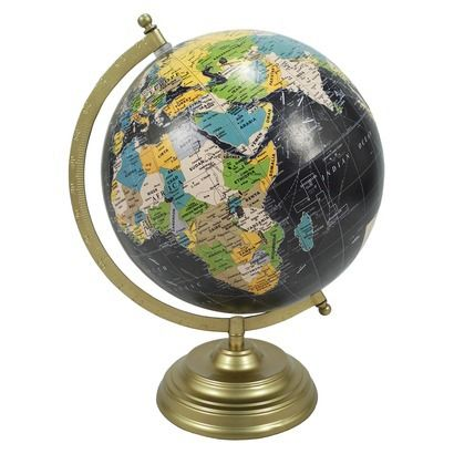 World Globe Threshold | Found this little beauty in the store! It was only $14.99, cheaper than most antique store prices!