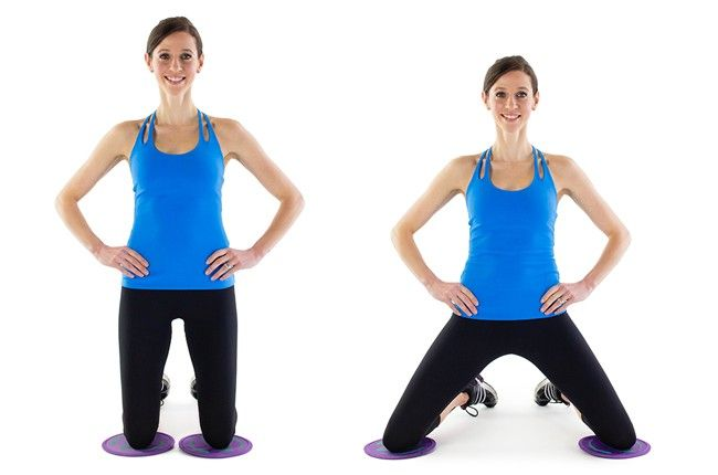 Gliding Hip Abduction: It's important to remember your hips when working out! This move will not only target your hip flexors, but also your glutes and thighs!