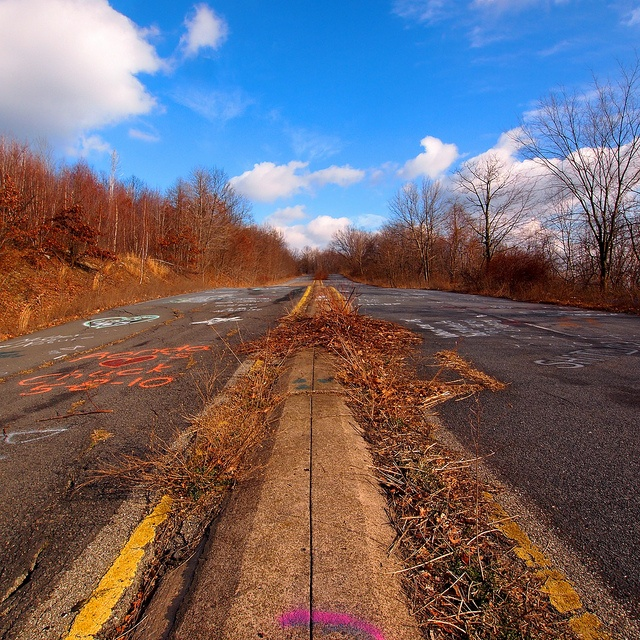 Abandoned Buildings In Centralia Pa: Centralia, Pennsylvania. Ghost Town Due To Underground