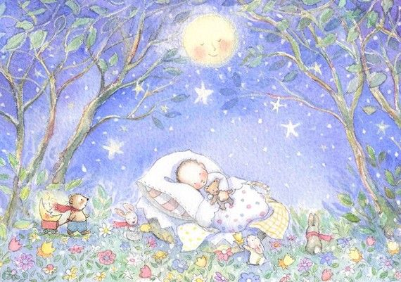 A pretty print 'Baby in Blue' by Becky Kelly
