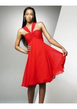 empire halter une jupe style de ligne court et élégantes robes du soir courtes arc