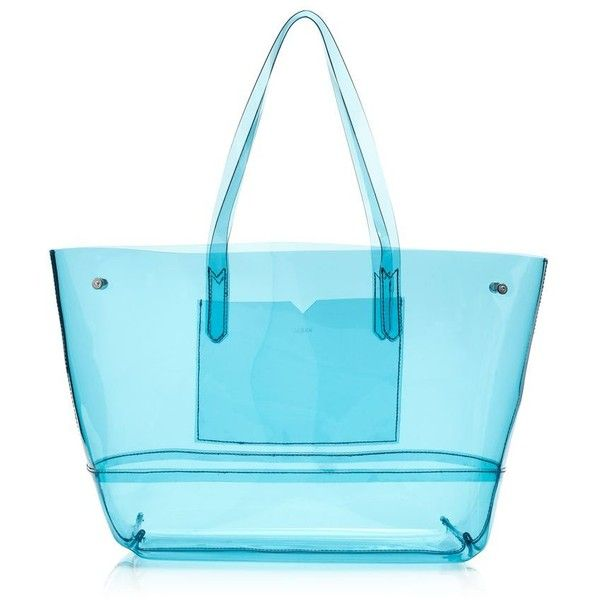 J.Crew Clear Beach Tote ($98) ❤ liked on Polyvore featuring bags, handbags, tote bags, purses, totes, beach, fillers, clear beach tote, handbags totes and j crew tote