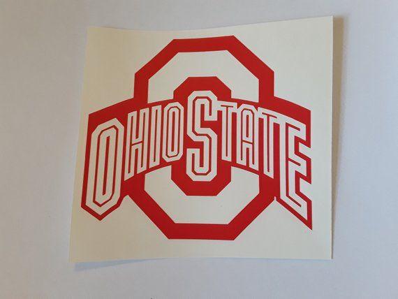 Ohio State Buckeyes Decal Buckeyes Sticker Osu Cornhole Decals
