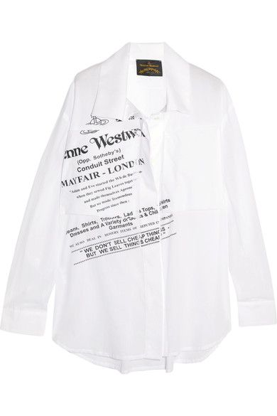 Black and white cotton-voile Concealed button fastenings through front  100% cotton Machine wash Made in Italy