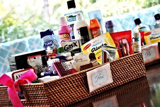 bathroom wedding basket