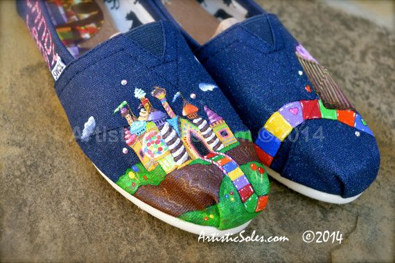 Candy Land III Custom Hand Painted TOMS Shoes