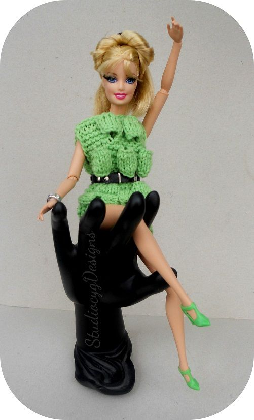 Bubble knit dress Barbie