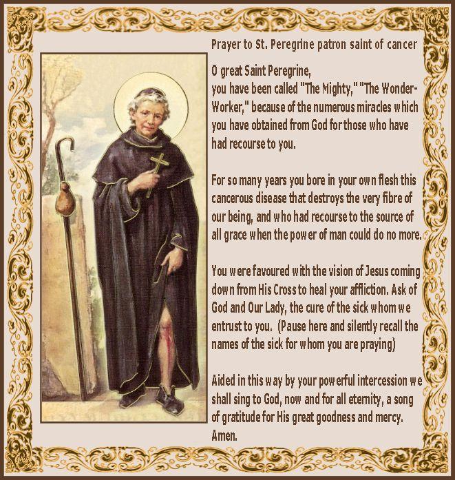 Saint Peregrine.. The Cancer Saint