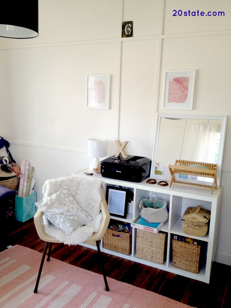 Small Guest Room Home Office With The 4 Wicker Baskets I