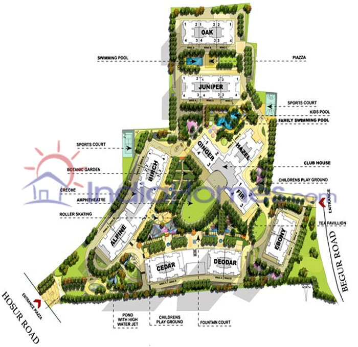 Apartment By Map: Salarpuria Greenage Phase - 2