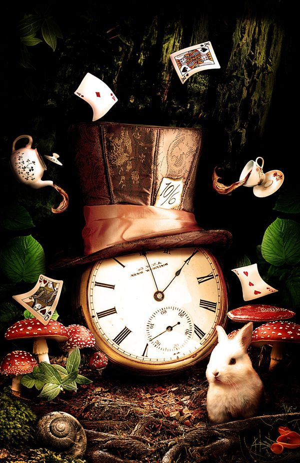 """Have I gone mad""...The Hatter by Dalys Burnes, via Behance"
