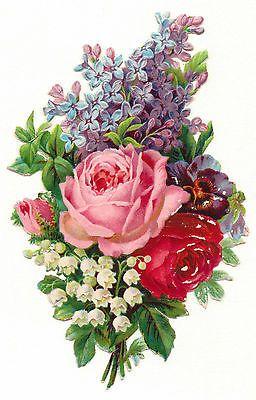Glanzbilder - Victorian Die Cut - Victorian Scrap - Tube Victorienne - Glansbilleder - Plaatjes : Rosen x