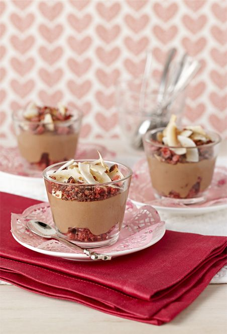 Cadbury #Cherry Ripe Mousse is a delicious do-ahead dessert for any time of year. #chocolate #dessert To view the #CADBURY product featured in this recipe visit https://www.cadburykitchen.com.au/products/view/cadbury-melts/