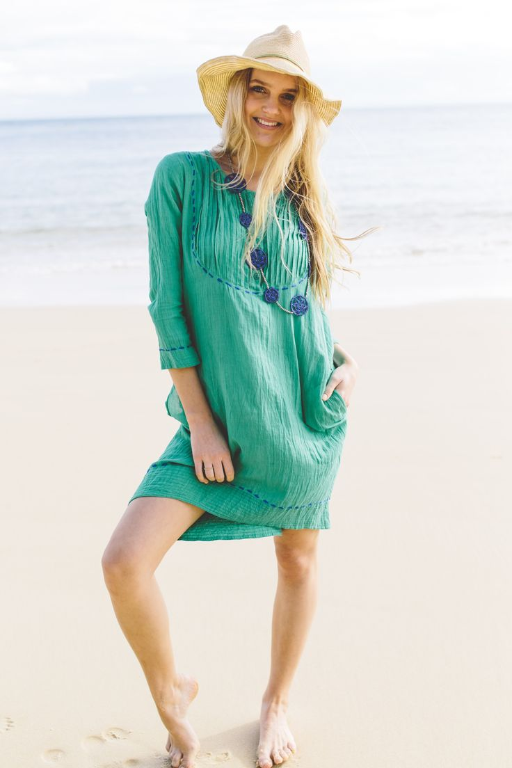 Ruby Yaya Sundance dress emerald
