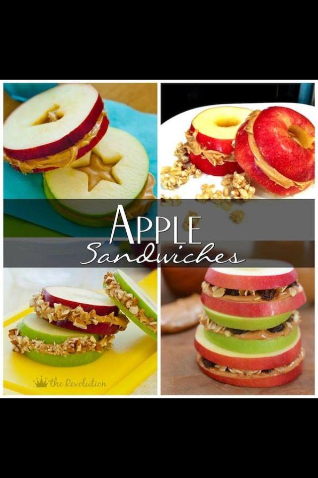 apple sandwich sandwich recipes healthy kids healthy snacks healthy ...
