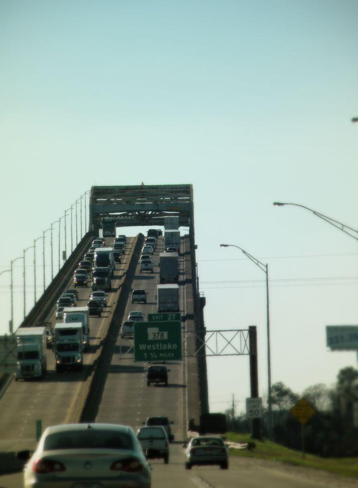 Calcasieu River Bridge - Lake Charles, Louisiana   DON'T like this---terrifying to me!