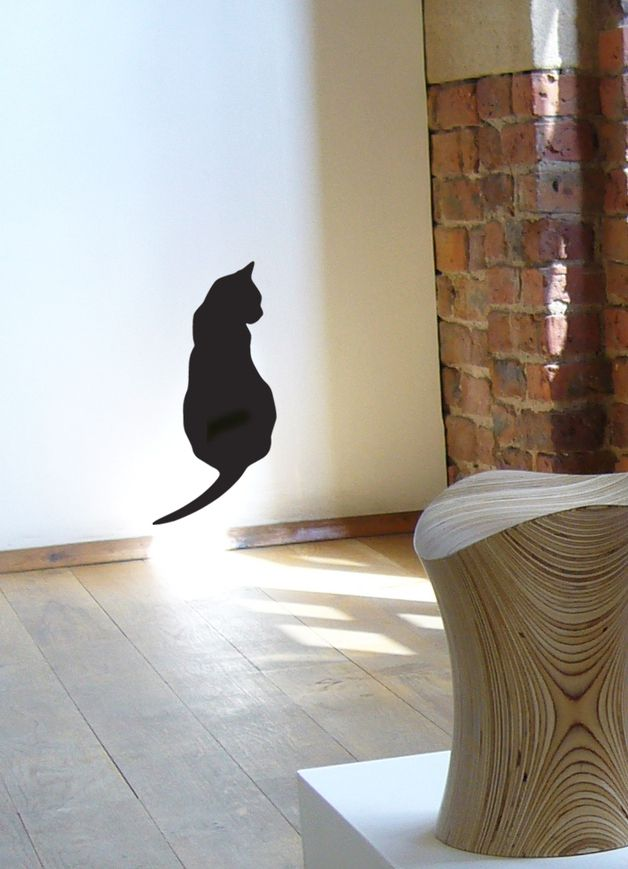 Adesivi murali - Gatto Autoadesivo della parete, Gatto Seduto Decal - un prodotto unico di Jolyon_Yates su DaWanda