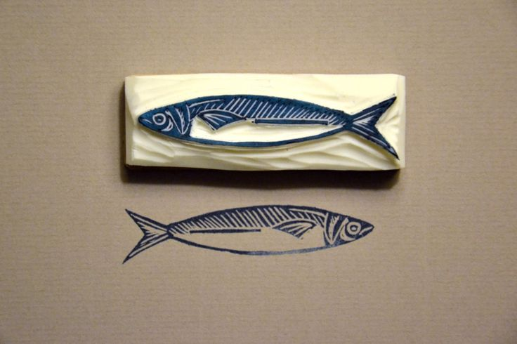 Like this sardine - could do a range of cards of fishes x