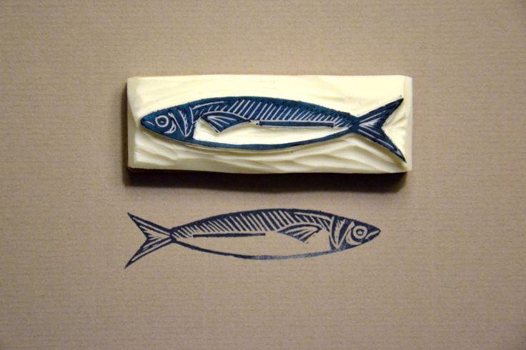 sardine ★ Epinglé par le site de fournitures de loisirs créatifs Do It Yourself https://la-petite-epicerie.fr/fr/127-tampons-et-encreurs ★