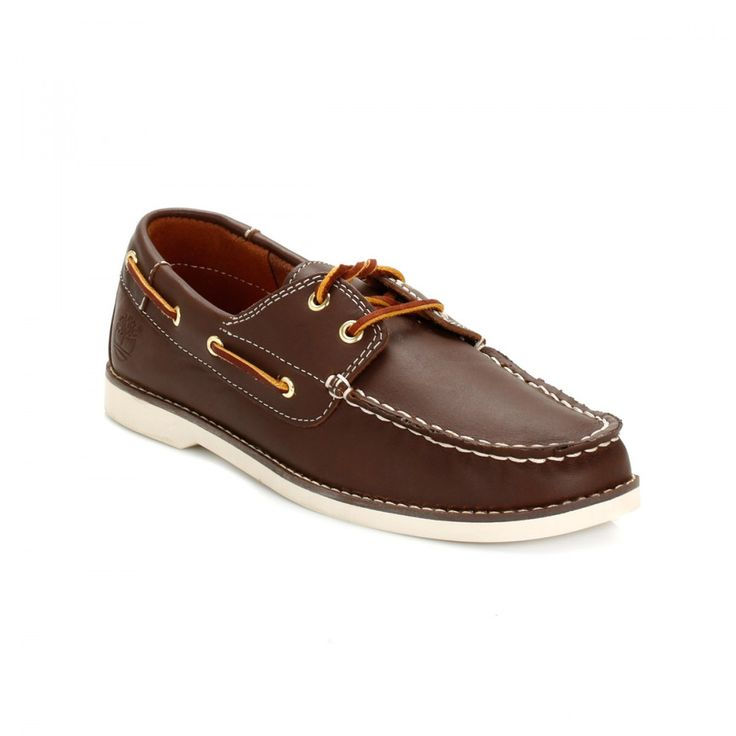 Timberland Junior Brown Seabury Classic Leather Boat Shoes