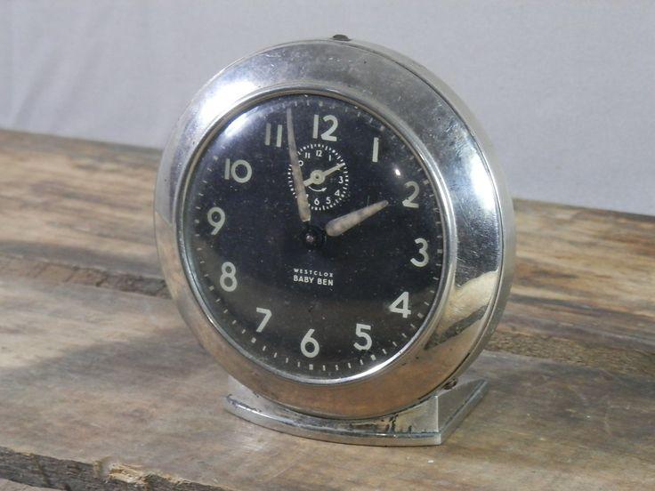 Vintage Westclox Baby Ben 61v 2a Wind Up Alarm Clock 1950