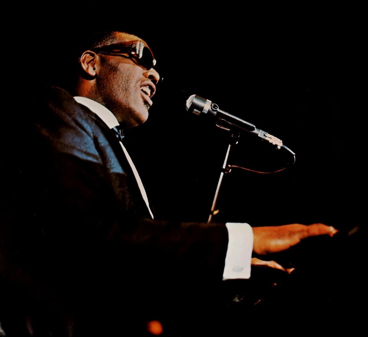 Ray Charles at the Veterans Memorial Auditorium, Ohio State University, Columbus on May 11,  1967 (from Athena Yearbook, 1967, pg. 56).