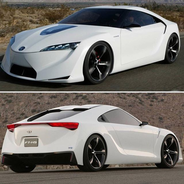 Waybackwednesday Envisioned As A Hybrid Supra The Toyota Ft Hs Concept Was Roved
