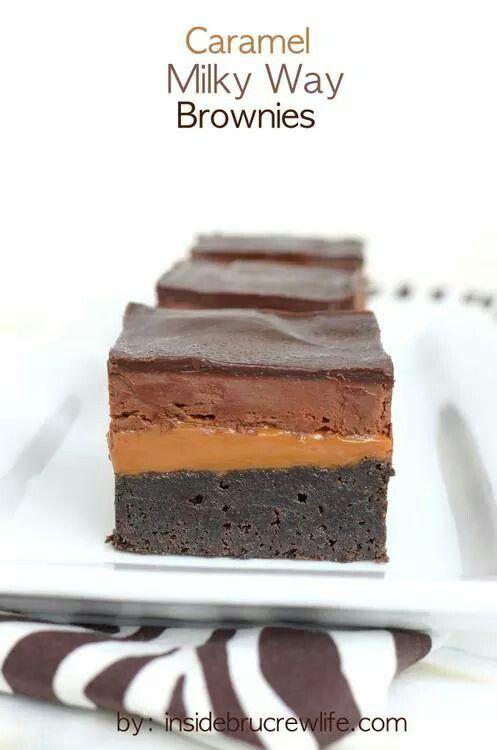 Caramel milky way brownies