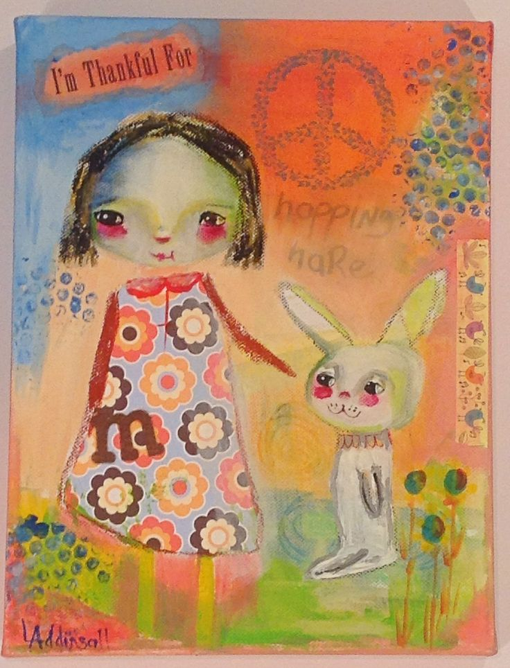 Millie and the hopping hare SOLD