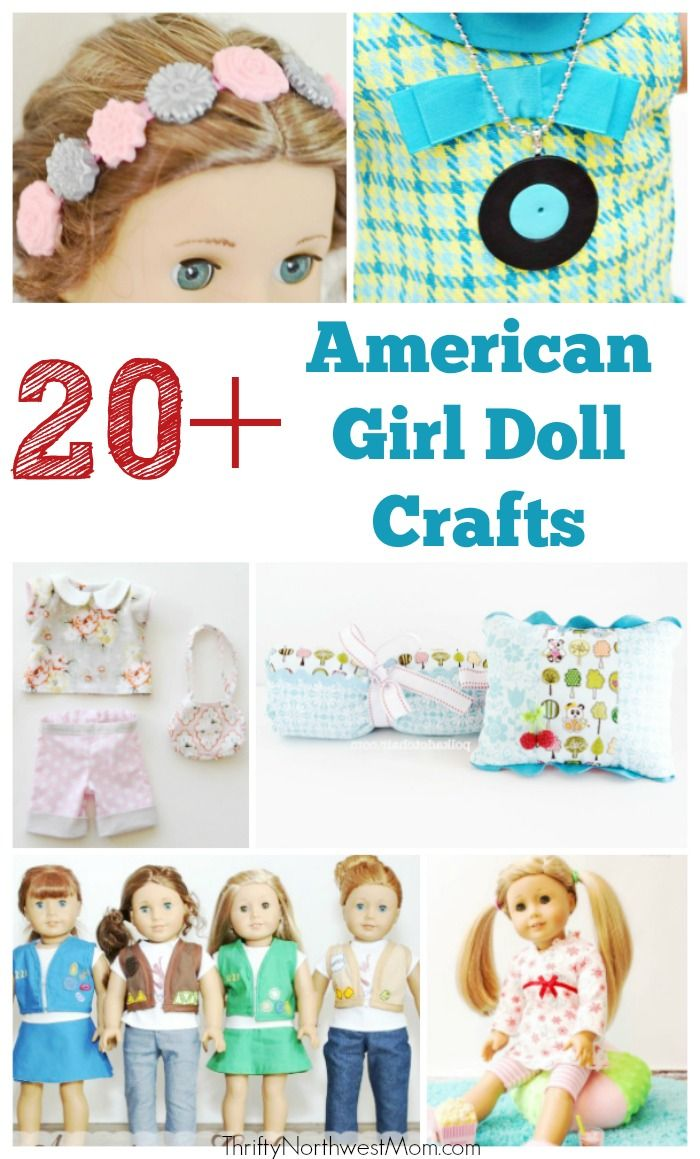 """Check out these 20+ American Girl Doll DIY Crafts to make for your 18"""" doll."""