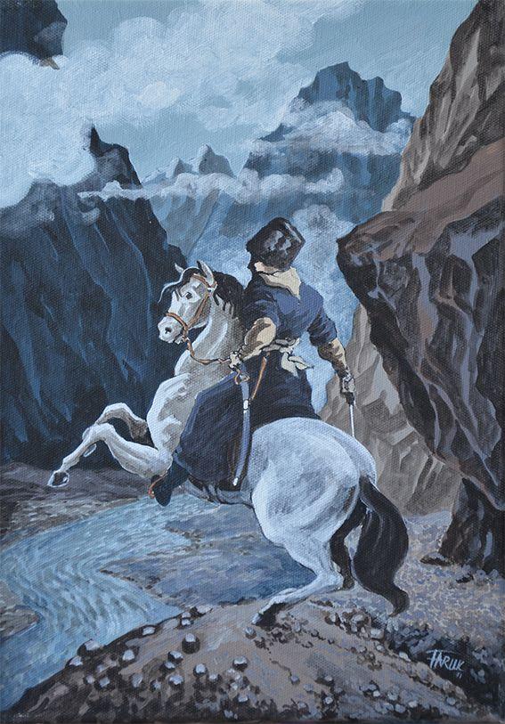 Faruk Kutlu, #chechen,#circassian,#caucasus,#caucasian,#painting,#art