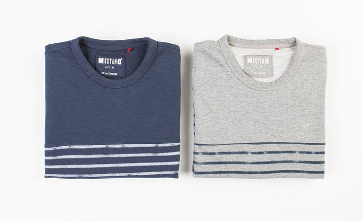 #new #newarrivals #newcollection #fw15 #fallwinter15 #online #onlinestore #sweatshirt #mustang #men #mencollection #striped #sweat #mood #indigo #midgrey #standard