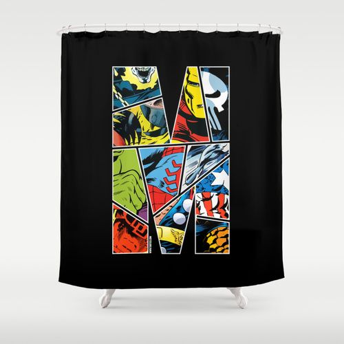 Marvel Comic Shower Curtain