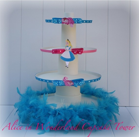 I die! - cutest cupcake tower I have seen! $50 on Etsy. I may try to recreate.