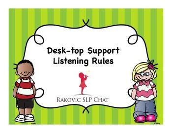 I became a speech and language pathologist in 1979 and since that time I have always used a set of listening rules as a way to get a child ready to learn. It is important that we tell the student what we need to do rather than what we dont want them to do.
