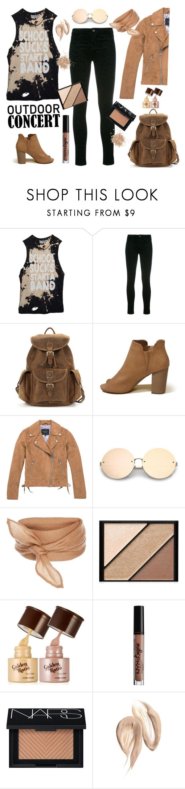 """""""Outdoor concert"""" by gul07 ❤ liked on Polyvore featuring High Heels Suicide, J Brand, Hollister Co., Marc New York, Elizabeth Arden, NYX, NARS Cosmetics, Topshop, outdoorconcert and 60secondstyle"""
