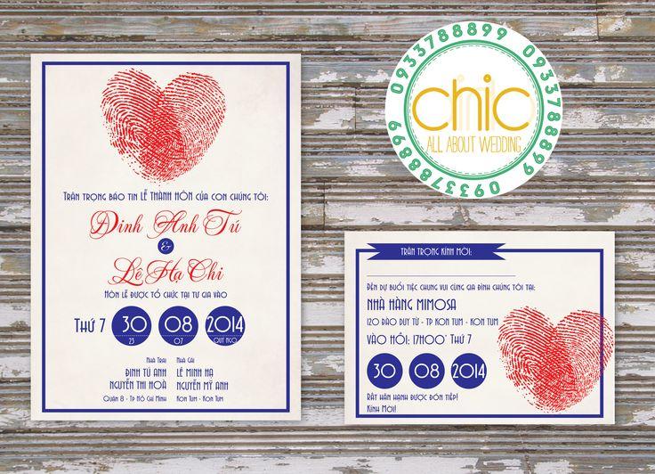 fingerprinting style - wedding card