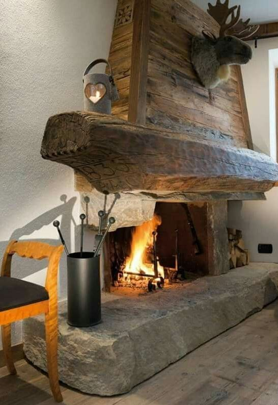 rustic timber fireplace mantel log home fireplaces in 2019 rh pinterest com