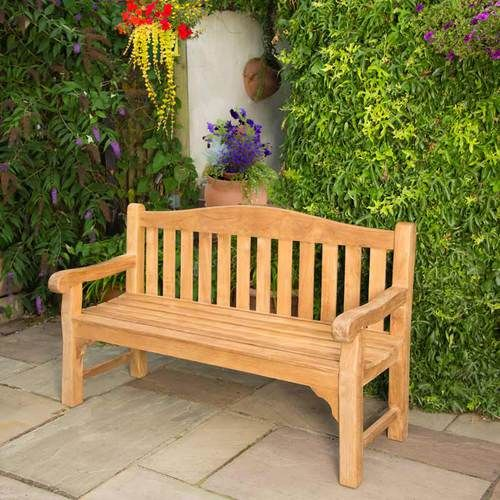 bench buckingham furniture westminster sunbrella teak curved cushion outdoor