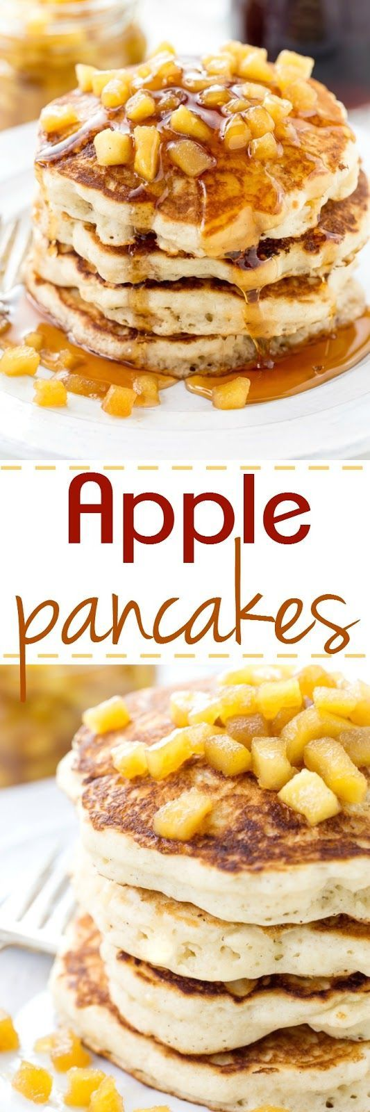 These are the fluffiest pancake recipe around and are topped with sweet apples…
