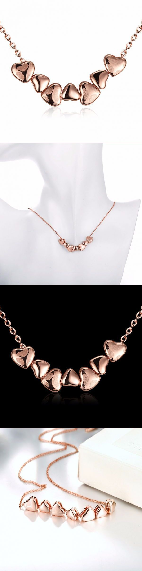 Sweet heart rose gold plated clavicle necklace for women irish necklaces pendants #3 #diamond #pendants #necklaces #cheap #necklace #pendants #in #india #necklace #pendants #diy #necklace #pendants #malaysia