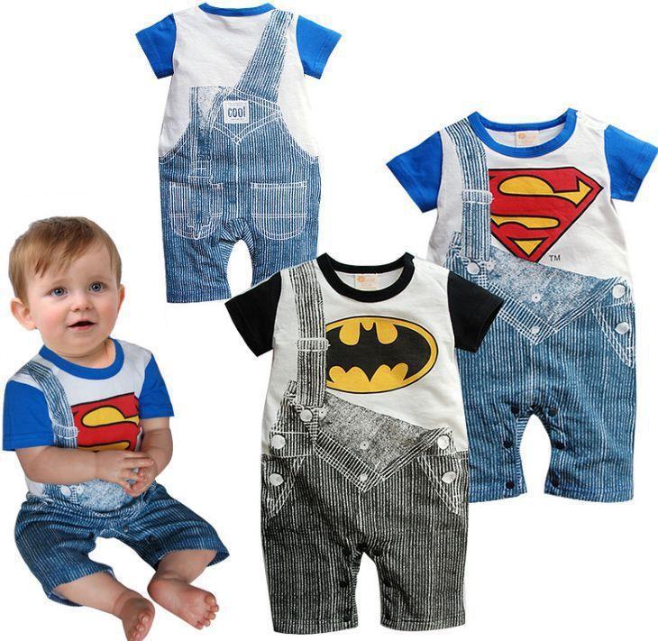 Cute Summer Baby Boy's Superman/ Batman Romper DC World Shop http://dcworldshop.com/cute-summer-baby-boys-superman-batman-romper/    #suicidesquad #superhero #dcuniverse #bataman #superman